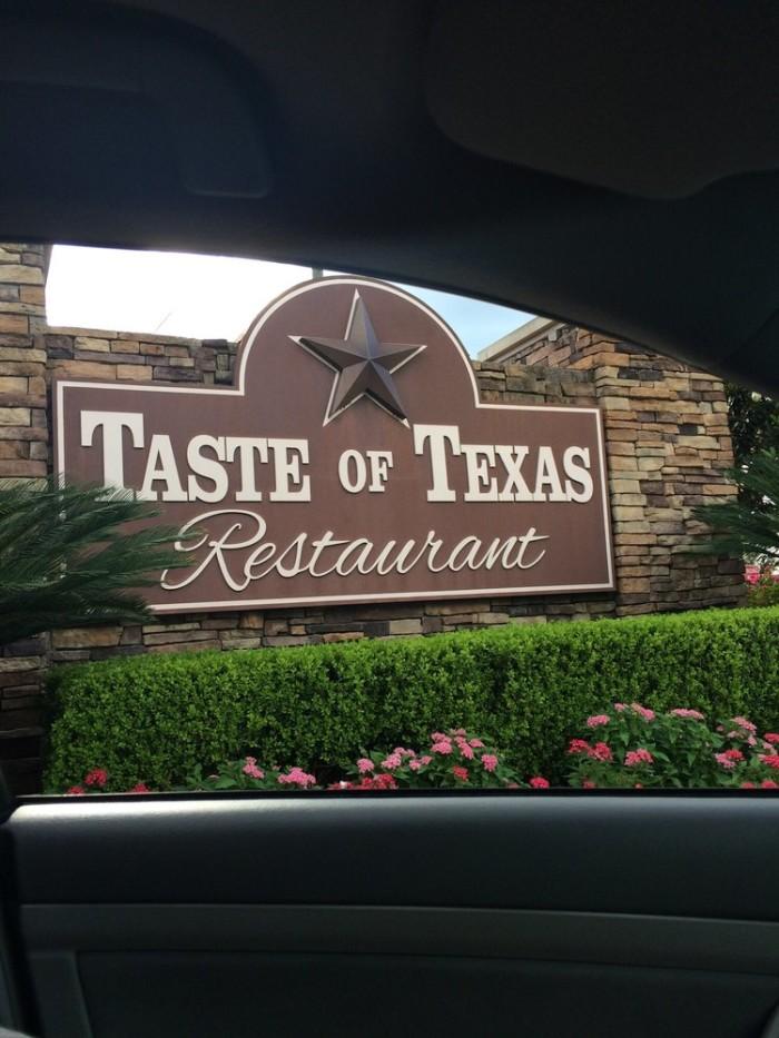 14. Taste of Texas (Houston)