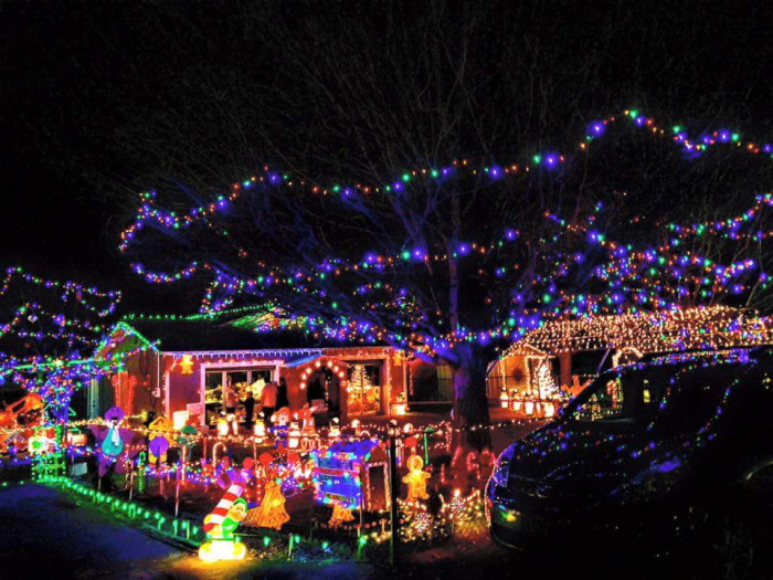 3. The Lindsey's Christmas House - Park and walk through if you'd like.