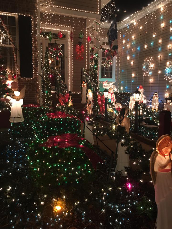 4. Walk through this extensive light display in Mauldin. Here's what part of it looks like up close.