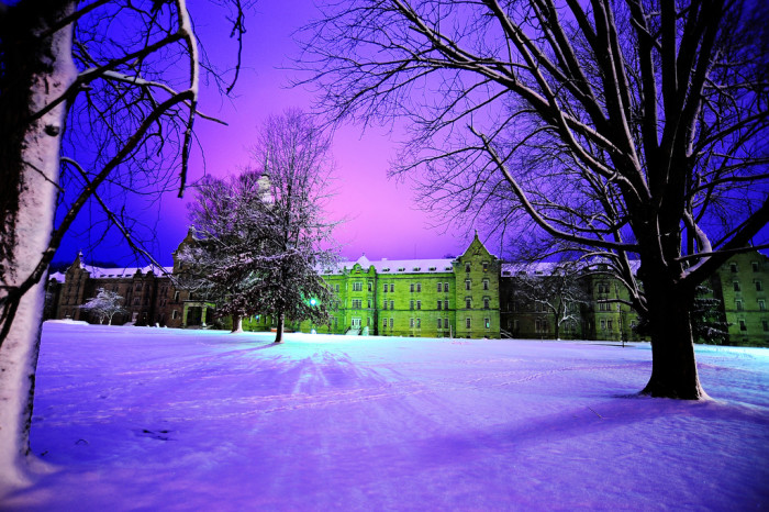 8. This otherworldly photo of the Trans-Allegheny Lunatic Asylum in Weston during the winter.
