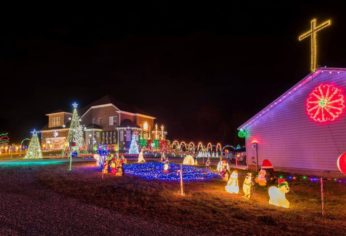 8. Check out the Turner Family Christmas display in Greer. It's spectacular!