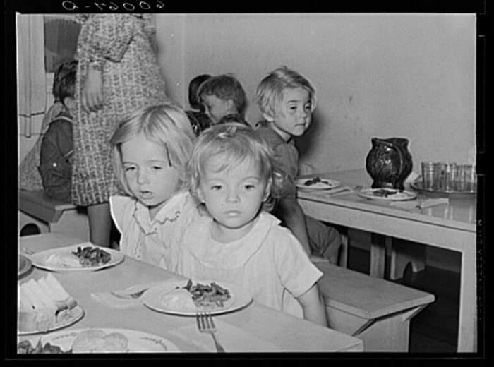 6. Here are some children at a nursery school in the Tygart Valley Homesteads, 1939.