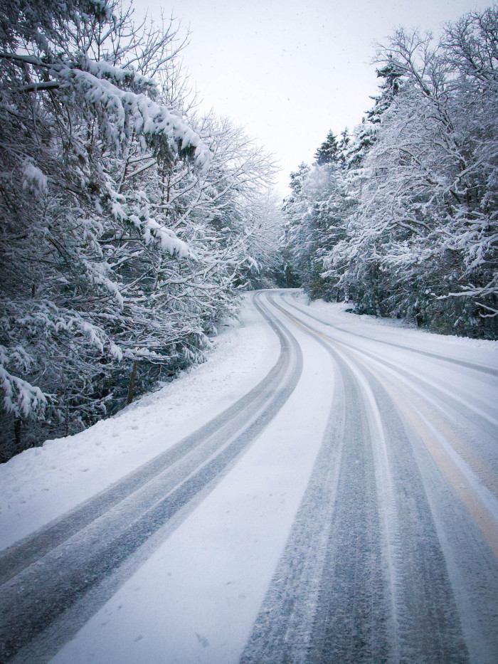 7. Driving on snow-covered roads is the worst....