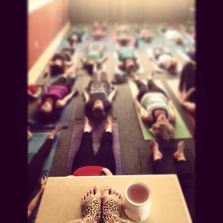4. Doing some yoga