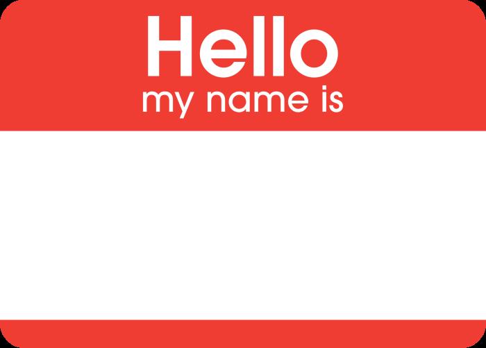 2. No need for name tags -- everyone knew everyone's name.