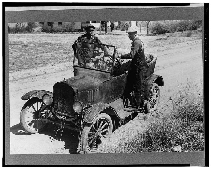 12. Youngsters play on a Model T in Pacolet, SC.