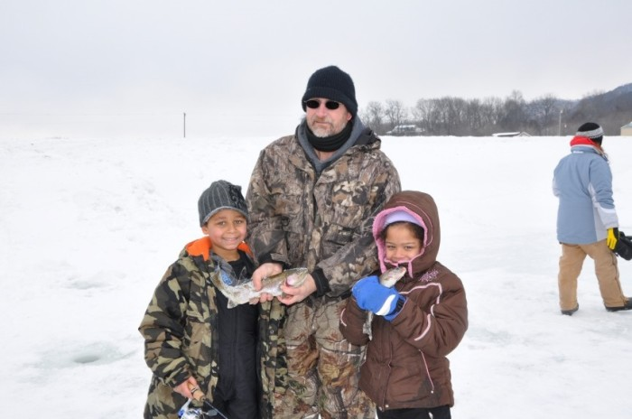 1. Go ice fishing.