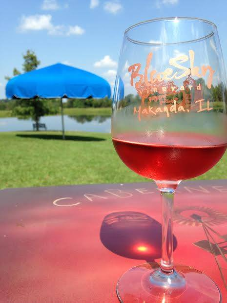 1. Drink some fine Illinois wine at Blue Sky Vineyard.