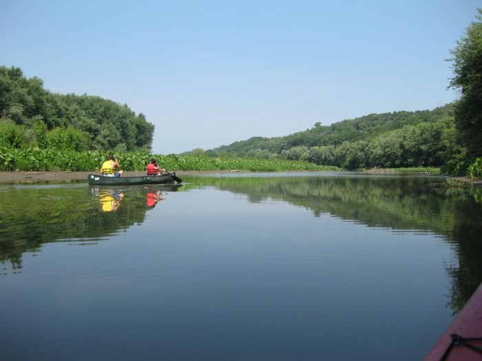 10. Take a kayak out on the Mississippi River.