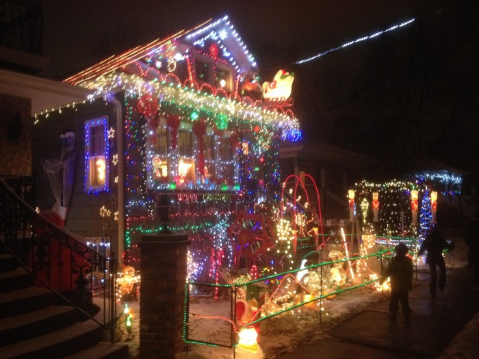 7. People go all out with their lights.