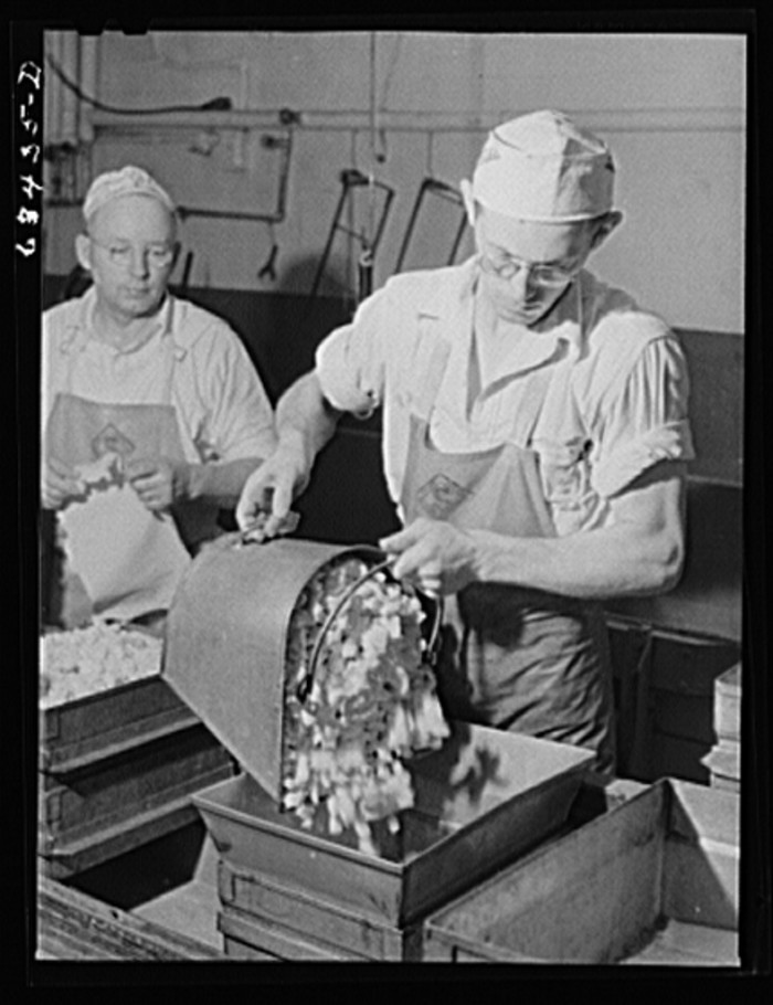 4. These gents are working at a cheese factory in Antigo in 1941.