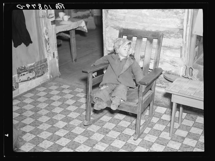 7. This kid could sleep anywhere. This photo taken in Tipler in 1937.