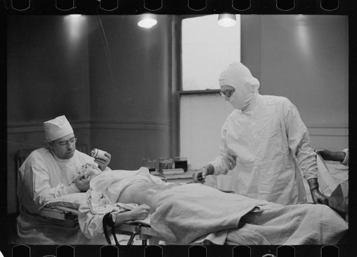 11. Doctors operate in Herrin in 1939.