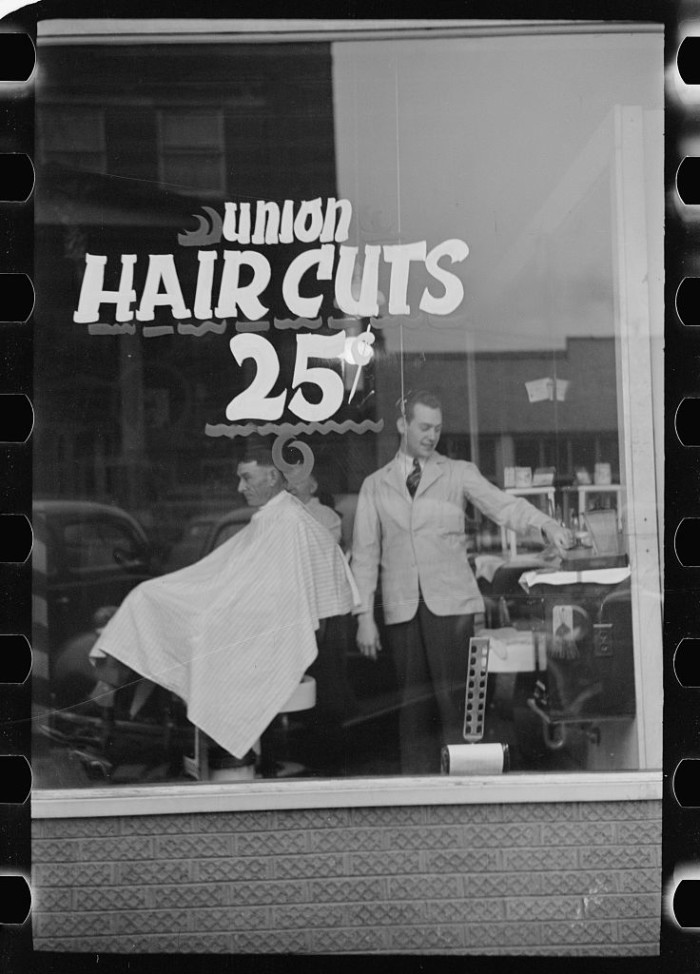 1. People got haircuts...but they only cost a quarter.
