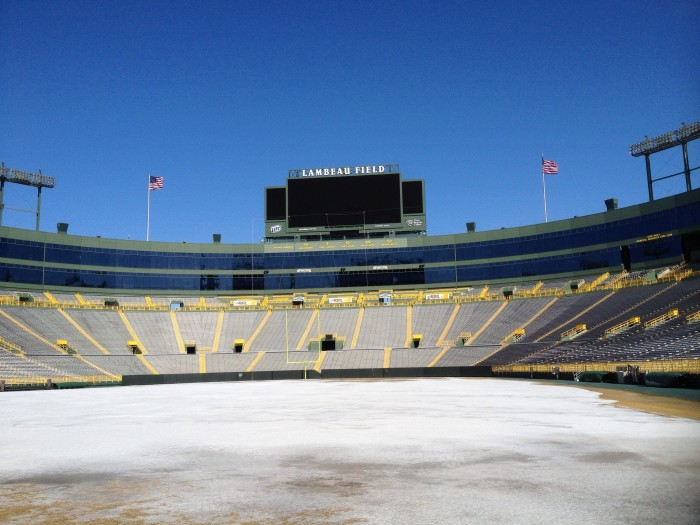 1. Let's face it--there is nothing quite like sitting at Lambeau Field with light snow coming down.
