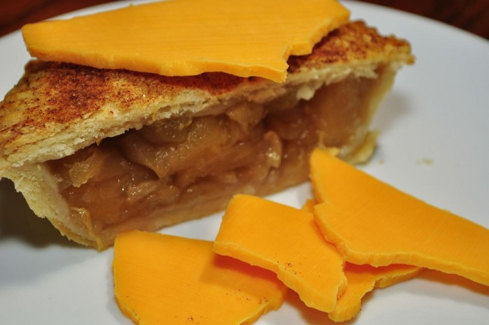 1. We put cheese on our apple pie.