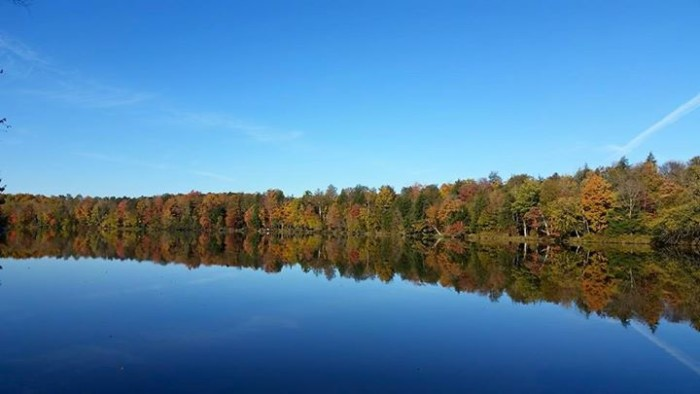 5. This is an amazing reflection shot of the Wisconsin River.
