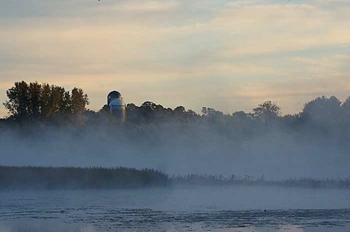 6. What an incredible fog shot over Little Holmes Lake.
