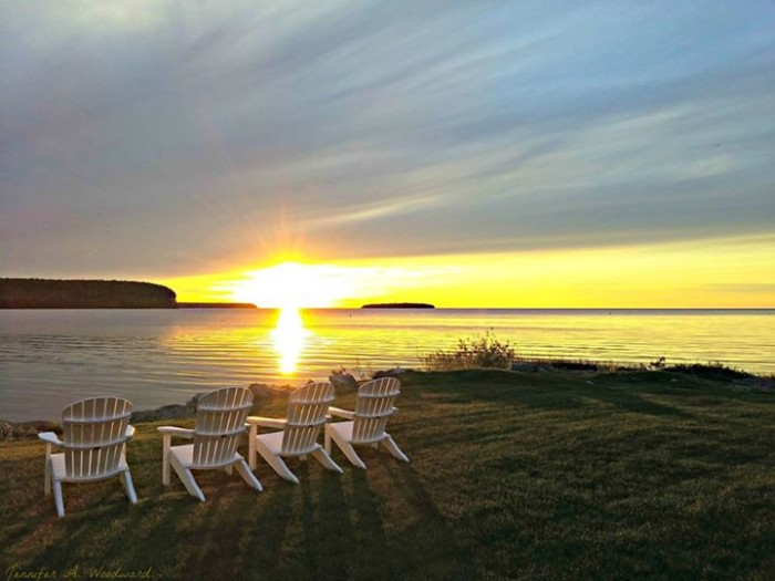9. Don't you just want to sink into one of these chairs and take in beautiful Door County?
