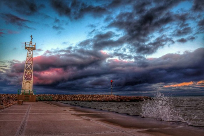 16. What a truly dramatic shot of the South Pier in Racine.