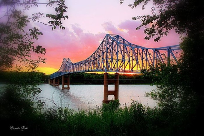 1. A sunset over the Mississippi River is truly a sight to see.