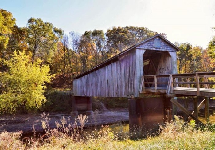 5. Nothing is more romantic than a quaint covered bridge, like this one in Cowden.