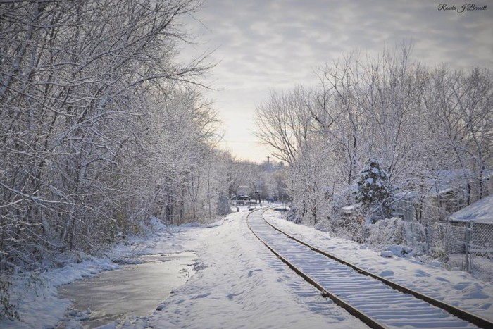 15. Doesn't this look like an inviting place to walk beside the tracks?