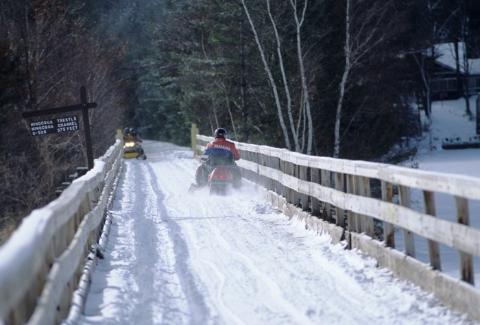 5. When it snowed earlier this year, it was incredible to go snowmobiling.