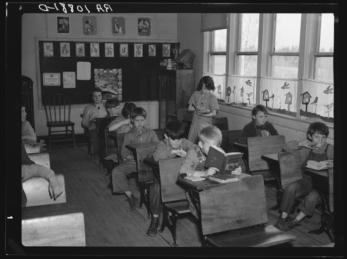 1. This is a rural school in near Tipler, Wisconsin.