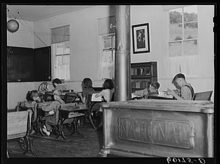 2. This is a shot of the interior of one-room school house. Crawford County, Wisconsin.