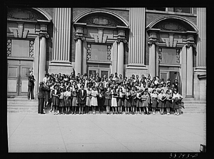 3. This is a picture of a high school graduating class in Chicago, class of 1941.