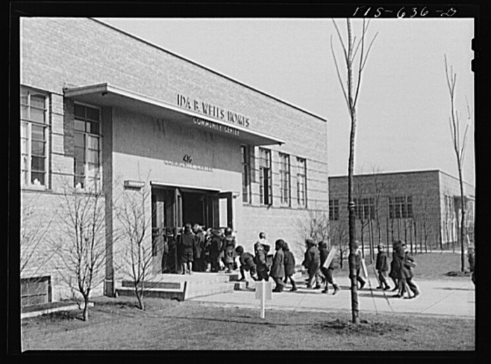 7. The Ida B. Wells Housing Project community center was used as a kindergarten by the public school system.