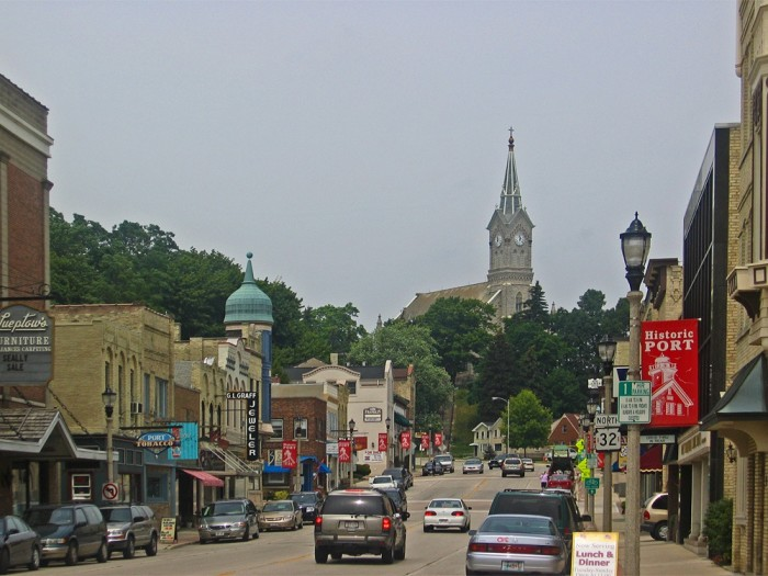 10 towns in wisconsin have the best main streets to visit for Port washington wi