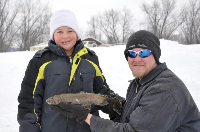 5. Head out and go ice fishing.