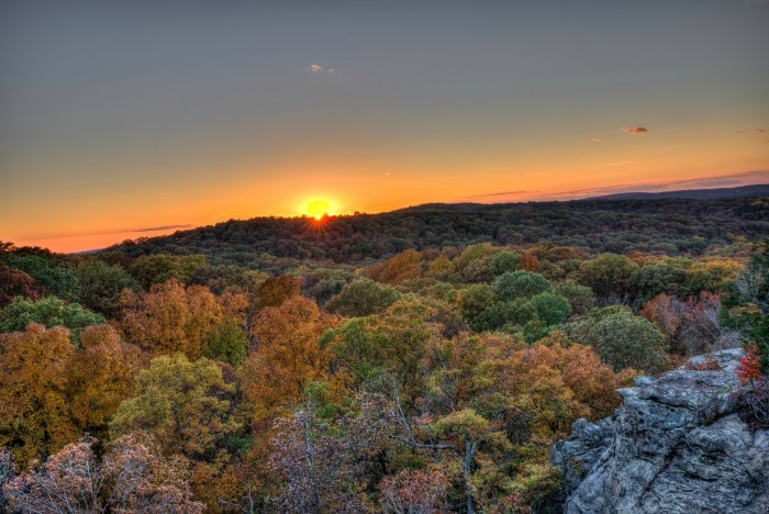 1. Hike in Shawnee National Forest.