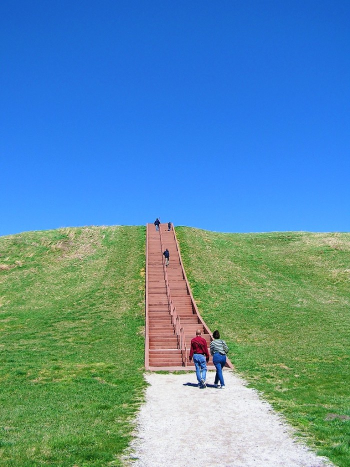 12. Go back in time at Cahokia Mounds.