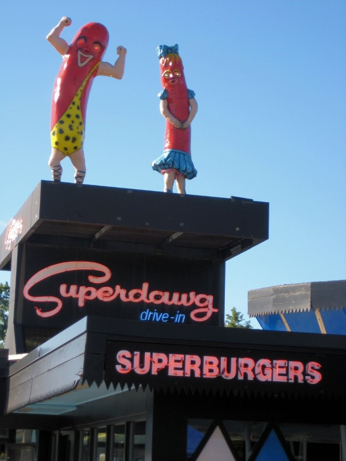 16. Eat a dawg at Superdawg.