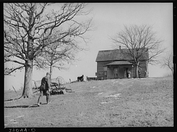 10. This was the home of a Rehabilitation Administration client. He liked in Gallatin County, Illinois in 1939.
