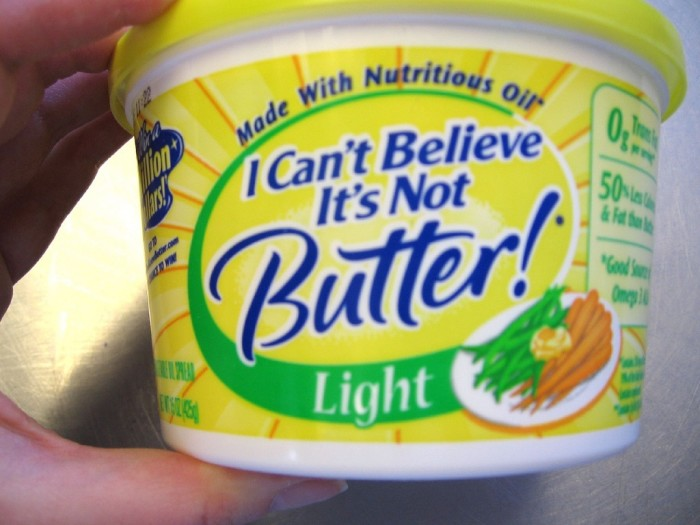 8. What do you guys have against margarine?