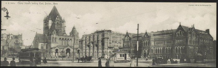3. Copley Square looking east, Boston 1905