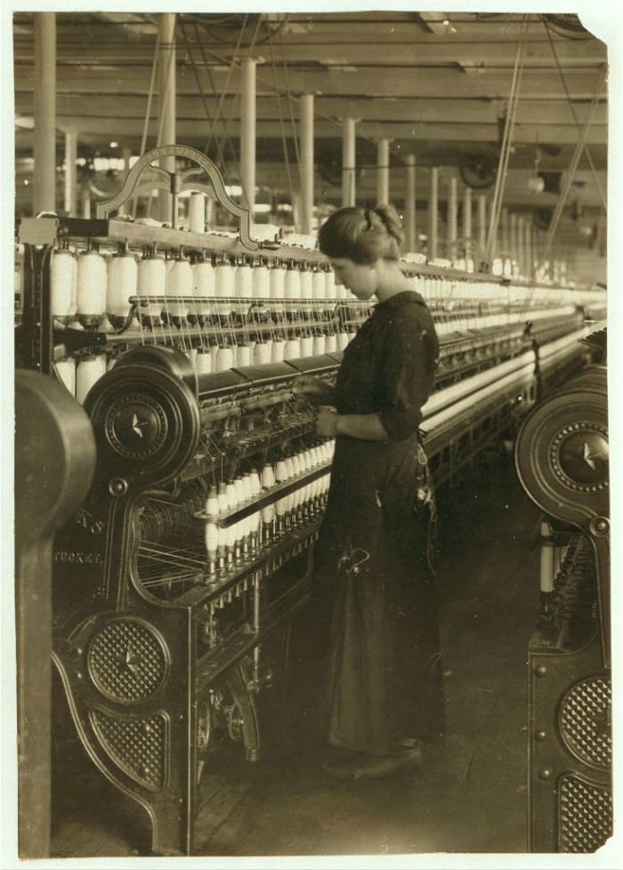 17. Fourteen year-old cotton mill worker in Lowell, 1911