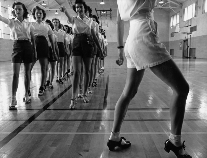 1. These students at Iowa State College take a tap dancing class in the early 1950s.