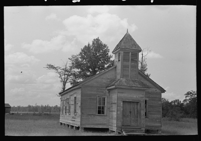 1. No small Mississippi town would be complete without a church. This particular one was photographed in Cruger in 1938.