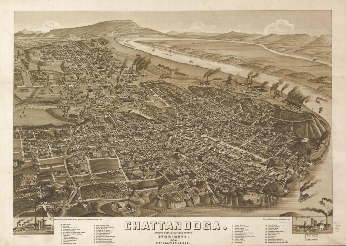 1) A neat once-upon-a-time map of Chattanooga