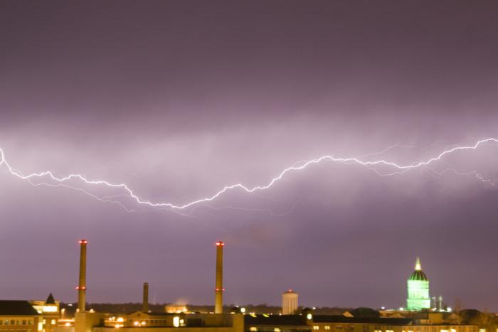 1. Lightning over Mizzou.