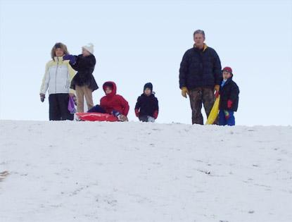 2.Sledding hill at Upper Stephen's Lake Park, Columbia