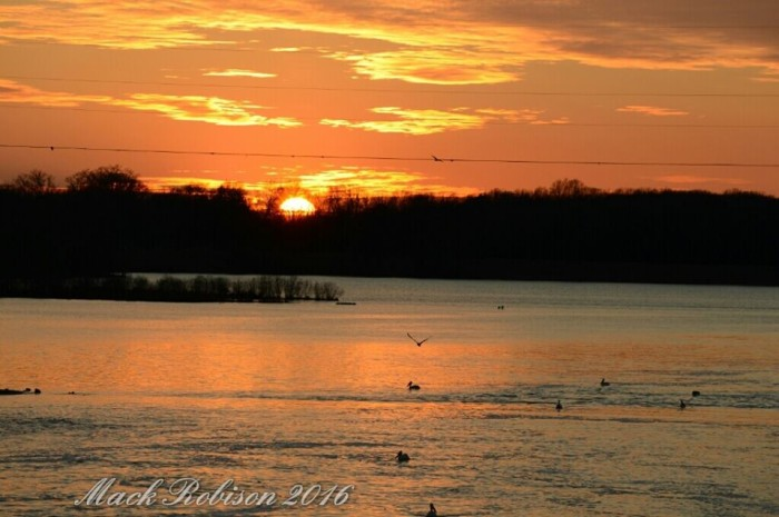 10. A Breathtaking Sunset at Sardis Dam
