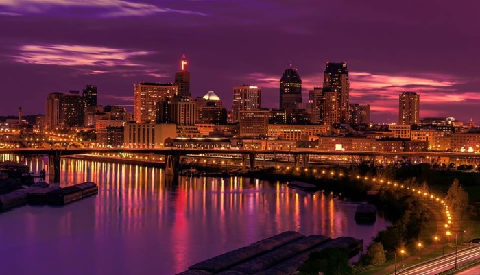 18. St. Paul is glorious in the evening sky.