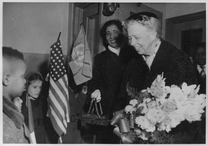 2. Eleanor Roosevelt visiting Reverend Hayes Housing Projects in Newark, 1956.