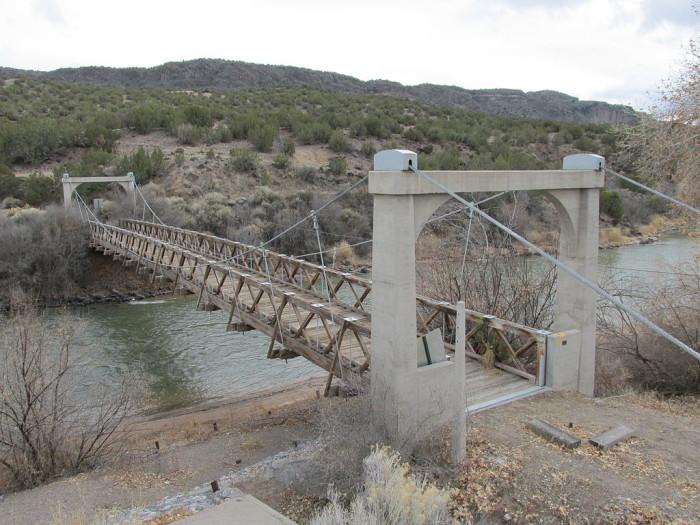 5. Otowi Suspension Bridge, near San Ildefonso